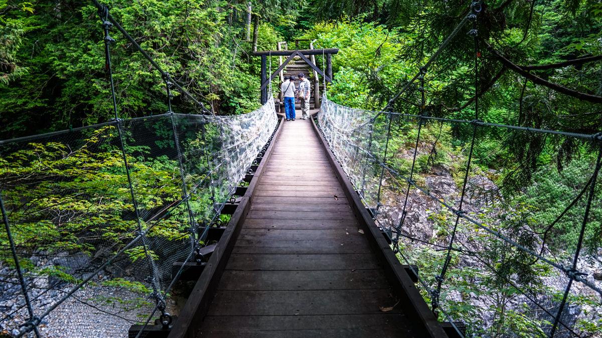 阿寺渓谷吊り橋