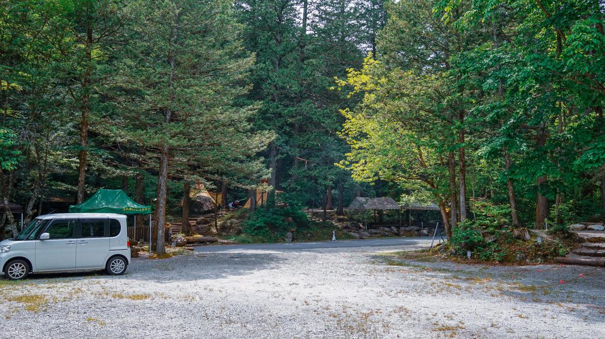 阿寺渓谷キャンプ場駐車場